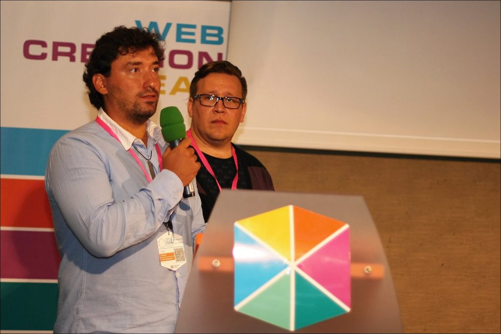 Presenting at WebExpo, Prague
